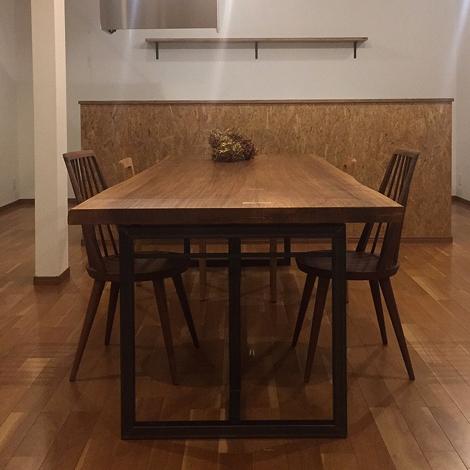 096_一枚板テーブル/シナクルミ