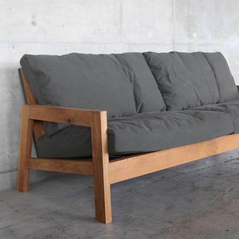 100_GRID SOFA/3P/OAK