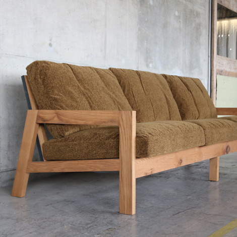 102_GRID SOFA/4P/OAK