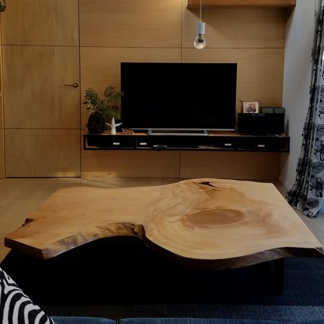 137_一枚板ローテーブル/イチョウ