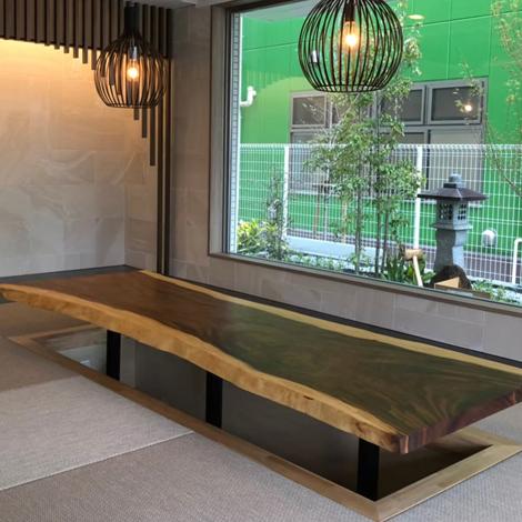183_一枚板テーブル/モンキーポッド