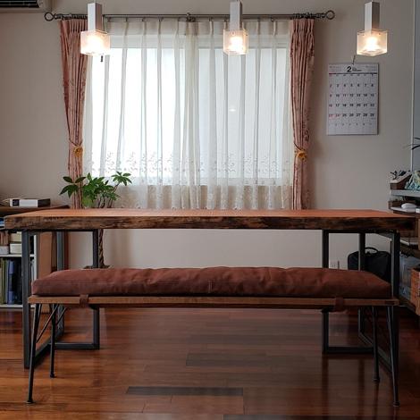 208_一枚板テーブル/ケヤキ